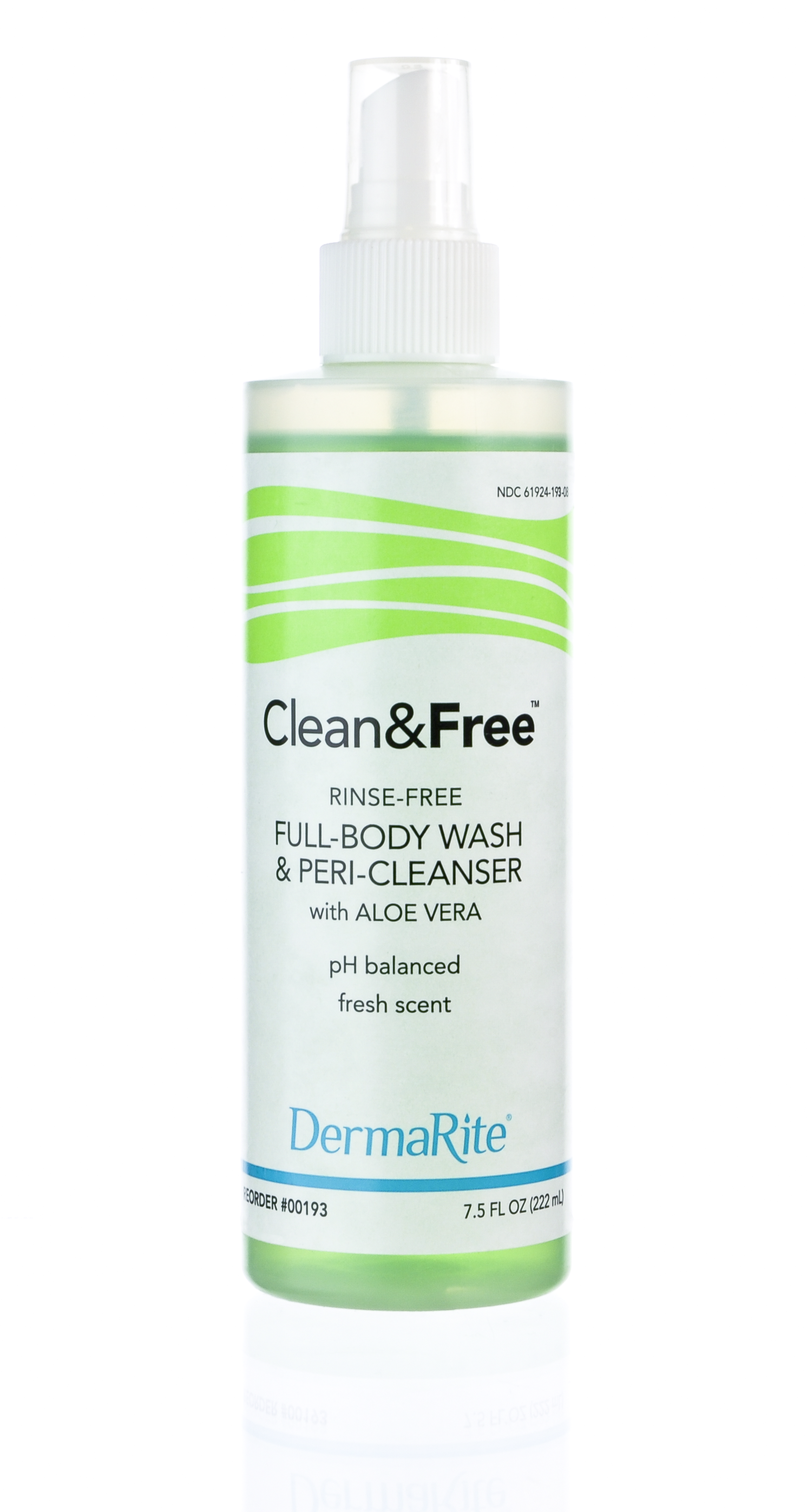 mild rinse-free body wash shampoo perineal cleanser water-free