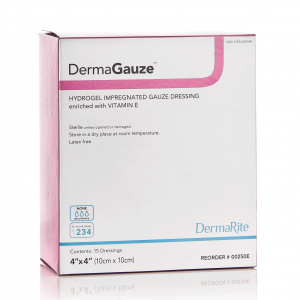 dermasyn impregnated sterile gauze vitamin e encriched hydrogel wound dressing