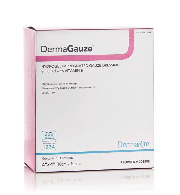 dermasyn impregnated sterile gauze vitamin e encriched hydrogel wound dressing