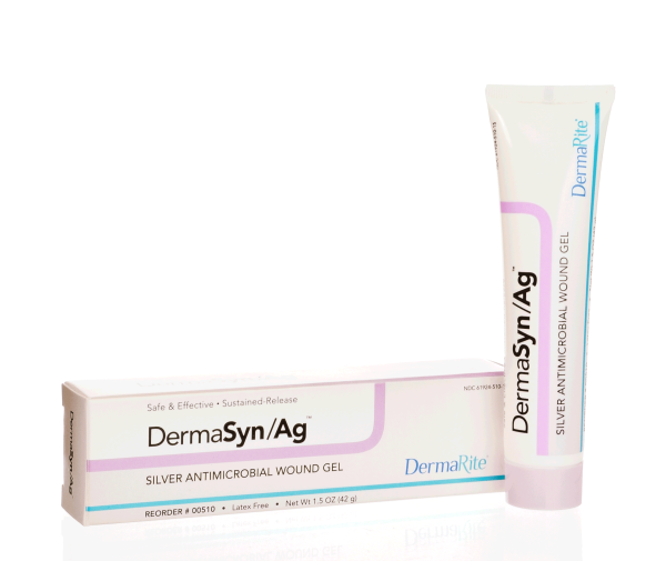 dermasyn silver water-based antimicrobial wound dressing first second degree burn management