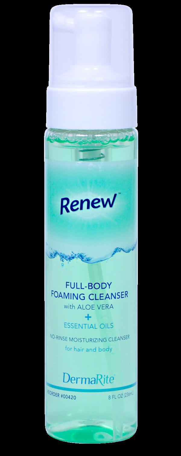 full-body essential oil light citrus scent no-rinse foaming cleanser