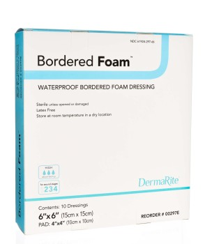 highly absorbent hydrophilic foam waterproof island dressing decreases maceration wound protection