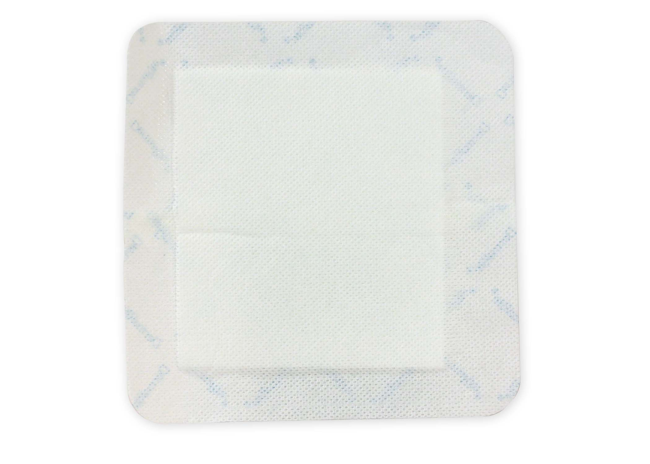 bordered gauze absorptive three layered soft flexible dressing
