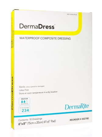 sterile waterproof composite dressing low adherent contact wound protection