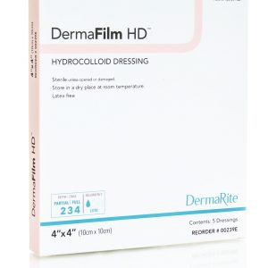 dermafilm hydrocolloid high density thin conformability wound dressing