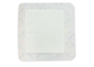 bordered gauze absorptive three layered soft flexible dressing